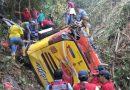 Doce muertos y 23 heridos en séptimo accidente de bus en Ecuador en 37 días