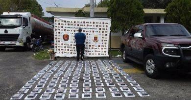 Incautan 134 panelas de cocaína a ex GNB en Tucaní